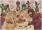 1 Kings 21 - Naboth's Vineyard - Scene 05 - Naboth stoned 980x706px col.jpg