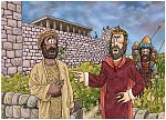 1 Kings 21 - Naboth's Vineyard - Scene 07 - Elijah confronts Ahab980x706px col.jpg