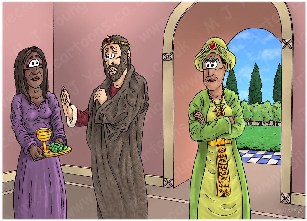 1 Kings 21 - Naboth's Vineyard - Scene 08 - Ahab in sackcloth 980x706px col.jpg
