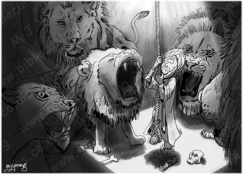 Daniel 06 - The lions' den - Scene 08 - Into the den 980x706px greyscale.jpg