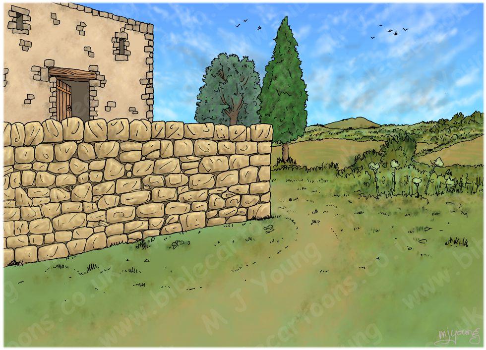1 Kings 19 - The call of Elisha - Scene 03 - Ploughman's lunch - Landscape 980x706px col.jpg
