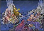 Matthew 25 - Parable of 10 virgins - Scene 01 - Sleeping 980x706px col.jpg