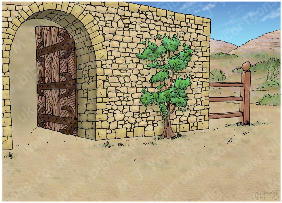 Matthew 25 - Parable of the talents - Scene 01 - Talent distribution - Landscape 980x706px col.jpg