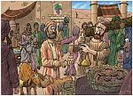 Matthew 25 - Parable of the talents - Scene 02 - Talents invested 980x706px col.jpg
