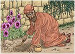 Matthew 25 - Parable of the talents - Scene 03 - One talent buried 980x706px col.jpg