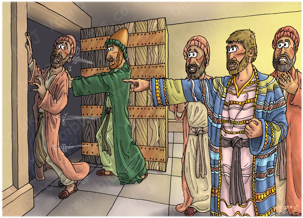 Matthew 25 - Parable of the talents - Scene 05 - Throw him out 980x706px col.jpg