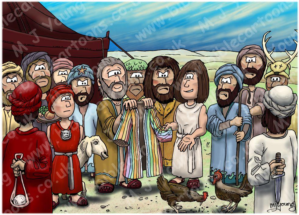 Genesis 37 - Joseph's Dreams - Scene 02 - The coat of many colours