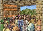 Acts 01 - Matthias replaces Judas - Scene 01 - Apostles return to Jerusalem (Version 02) 980x706px col.jpg