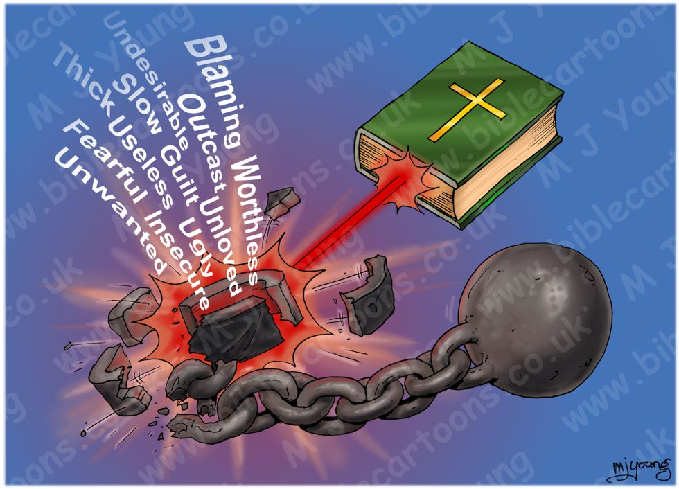Bible as laser - Ball & Chain metaphor 980x706px col.jpg