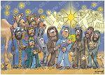 Christmas - Nativity - blue cloak 980x706px col