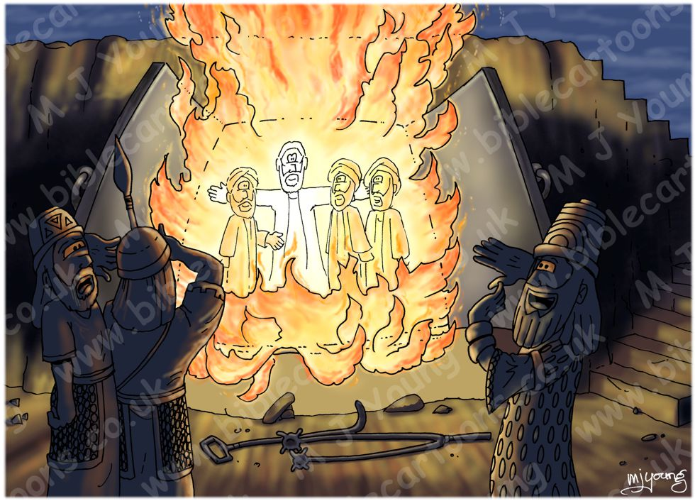 Daniel 03 - Fiery furnace - Scene 04 - The fourth man