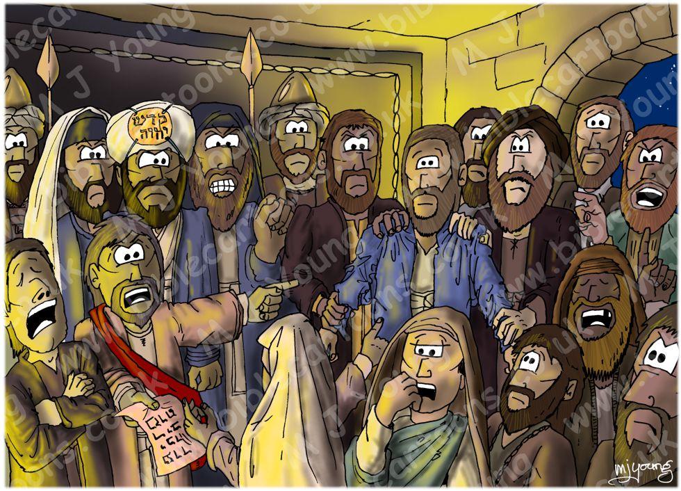 Mark 14 - Trial of Jesus - Scene 02 - False witnesses