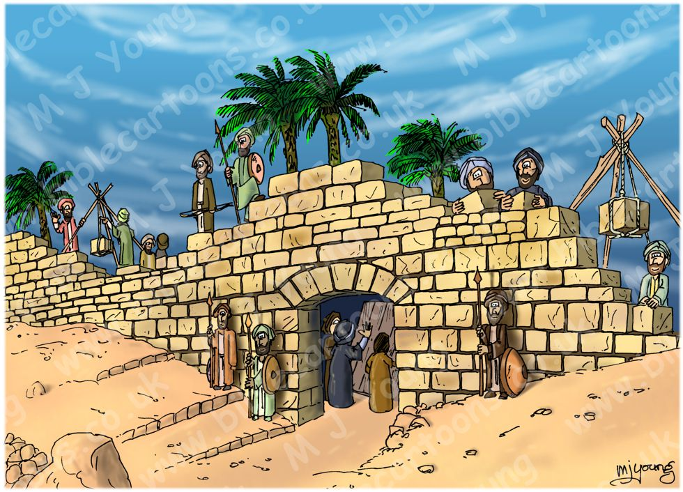 Bible Cartoons Nehemiah 03 Rebuilding Jerusalem S Walls