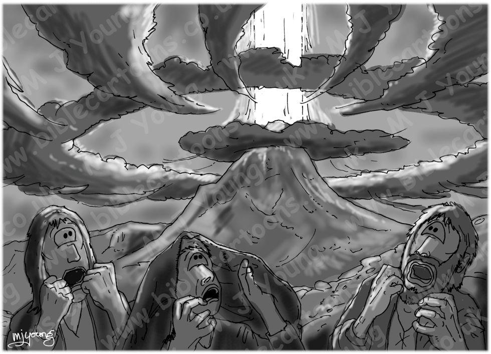 Exodus 19 - Mount Sinai - Scene 06 - Trembling- GREYSCALE
