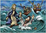 Matthew 14 - Jesus walks on water - Scene 05 - Jesus saves