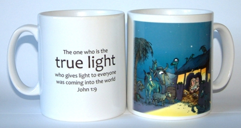 Christmas - True Light - Stable & Animals mug