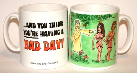 Bad Day - Adam & Eve mug