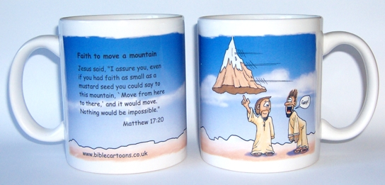 Faith to move a mountain - mug