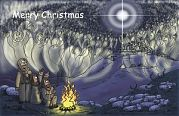 Christmas card - Angelic host