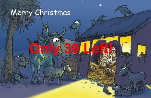 Christmas card - Stable & animals