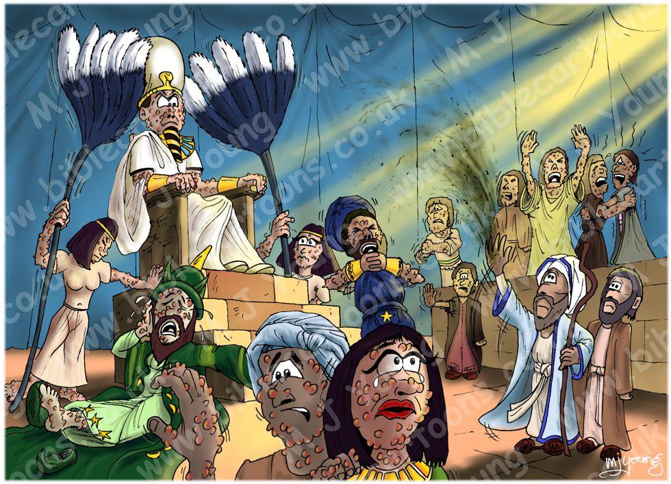 Exodus 09 - The ten plagues of Egypt - Plague of boils