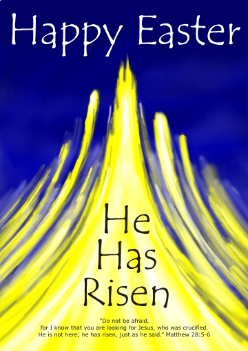 Easter card - He has risen