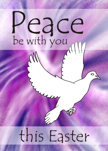Easter card - Dove - Peace