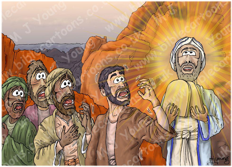 Exodus 34 - New Stone Tablets - Scene 04 - Moses' radiant face