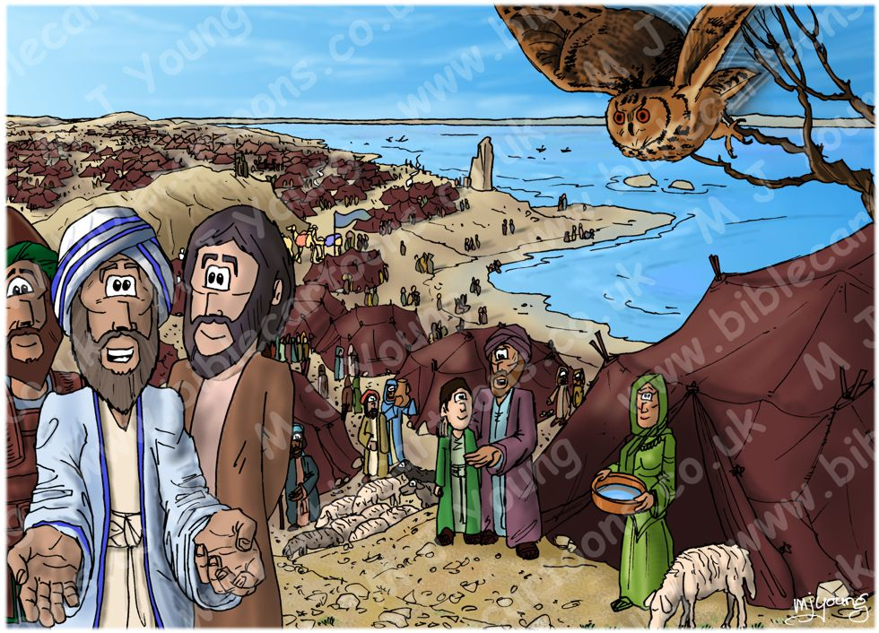 Exodus 14 - Parting of the Red Sea - Scene 01 - Camp
