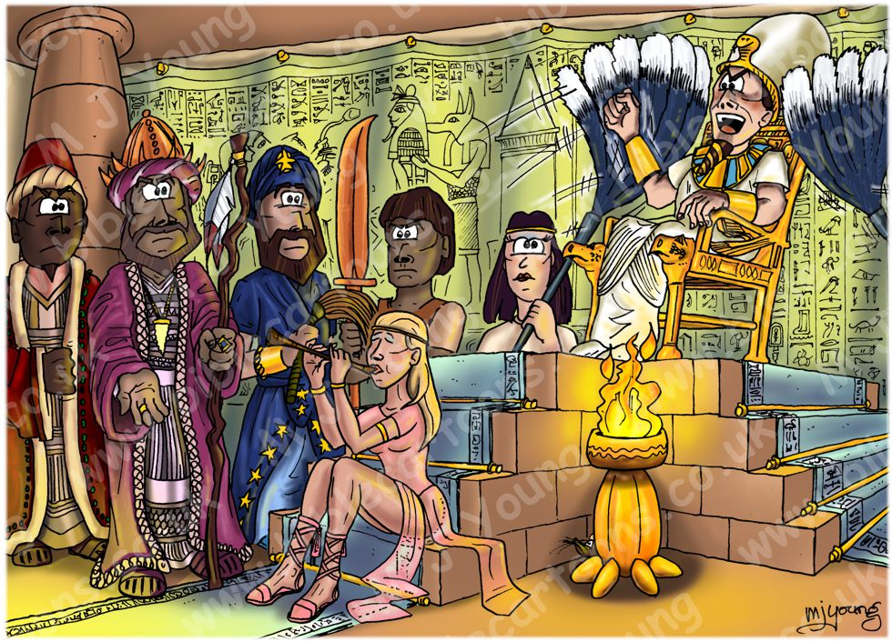 Exodus 14 - Parting of the Red Sea - Scene 02 - Pharaoh's court