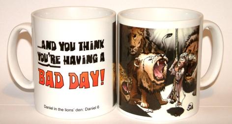 Bad Day - Daniel in lions den mug