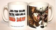 Bad Day - Daniel in lions den mug
