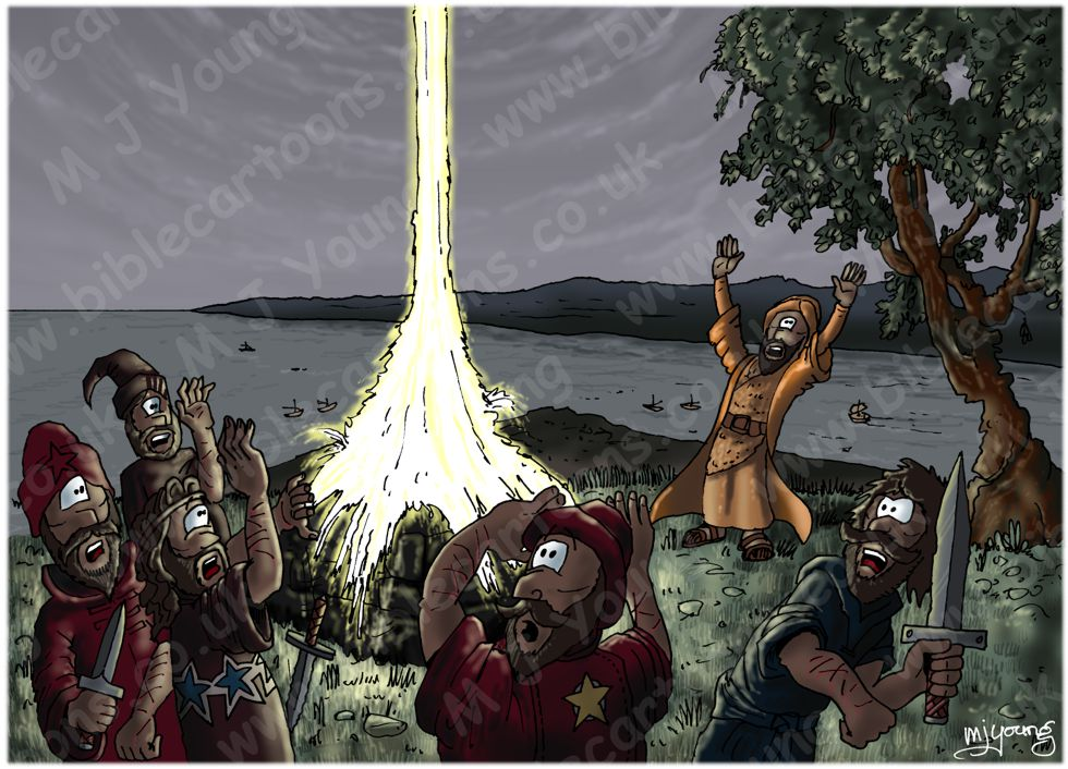 1 Kings 18 - Elijah on Mount Carmel - Scene 07 - Heavenly fire