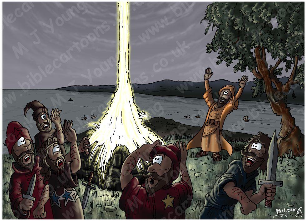 1 Kings 18 - Elijah on Mount Carmel - Scene 07 - Heavenly fire