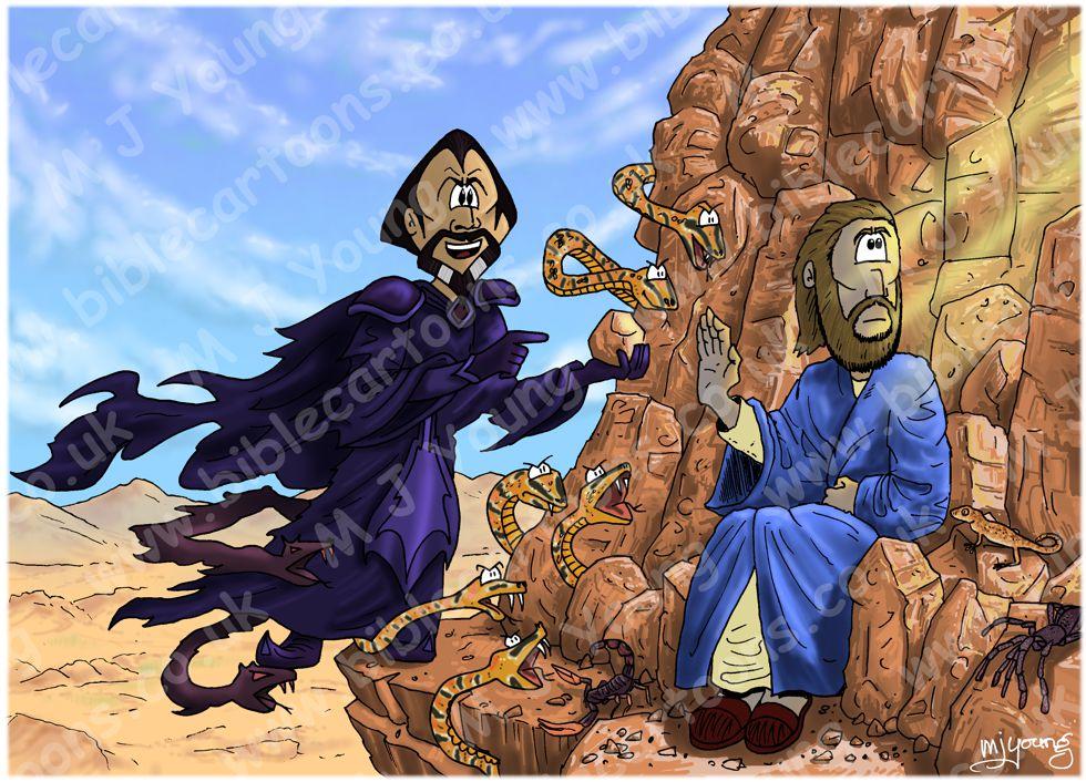 Matthew 04 - The temptation of Jesus - Scene 03 - Stones