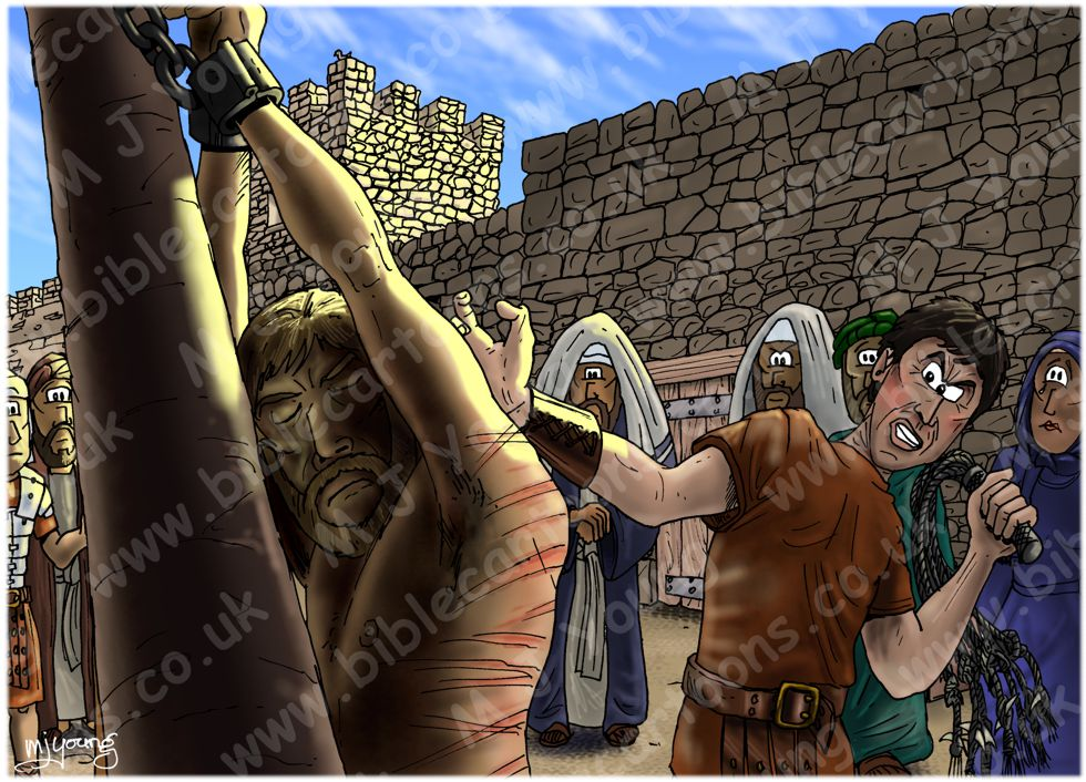 Mark 15 - Trial of Jesus - Scene 07 - Jesus flogged