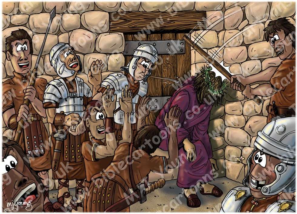 Mark 15 - Trial of Jesus - Scene 08 - Thorns & abuse