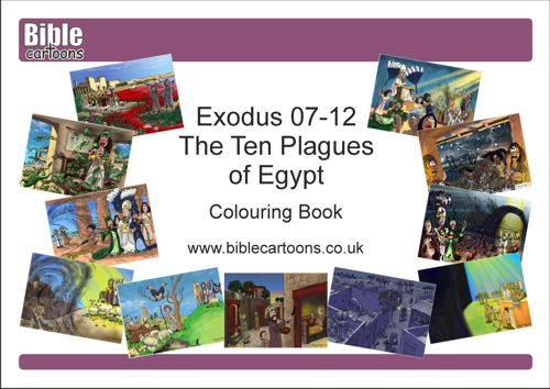 Exodus 07-12 - Ten Plagues A4 e-Colouring book
