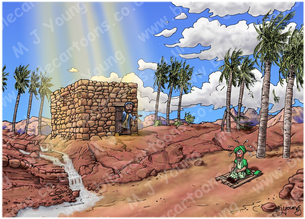 Matthew 07 - Parable of wise and foolish builders - Scene 06 - Standing on the rock