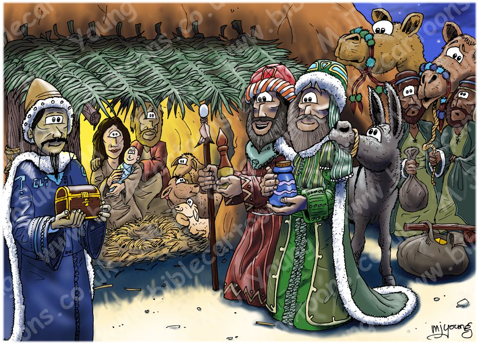 Matthew 02 - The Nativity - Scene 09 - Gifts (Colour version)