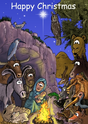 Nativity - Animals Curiosity - 251x163 72dpi