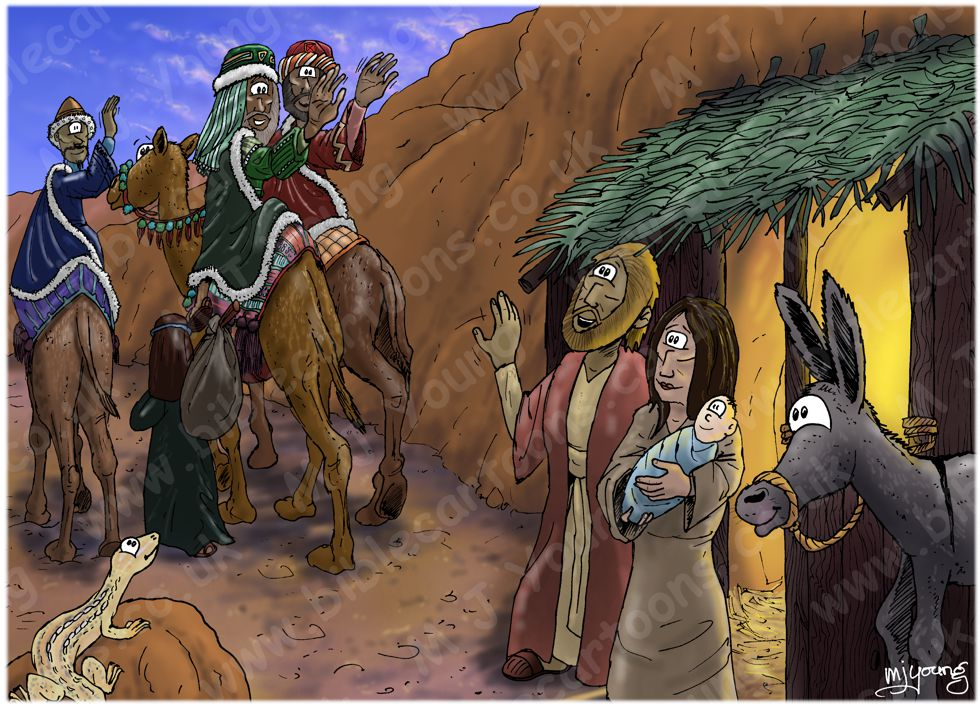 Matthew 02 - The Nativity - Scene 10 - Wise men return home