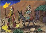 Matthew 02 - The Nativity - Scene 12 - Flight to Egypt (Colour version)
