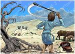 1 Samuel 17 - David and Goliath - Scene 07 - David practising
