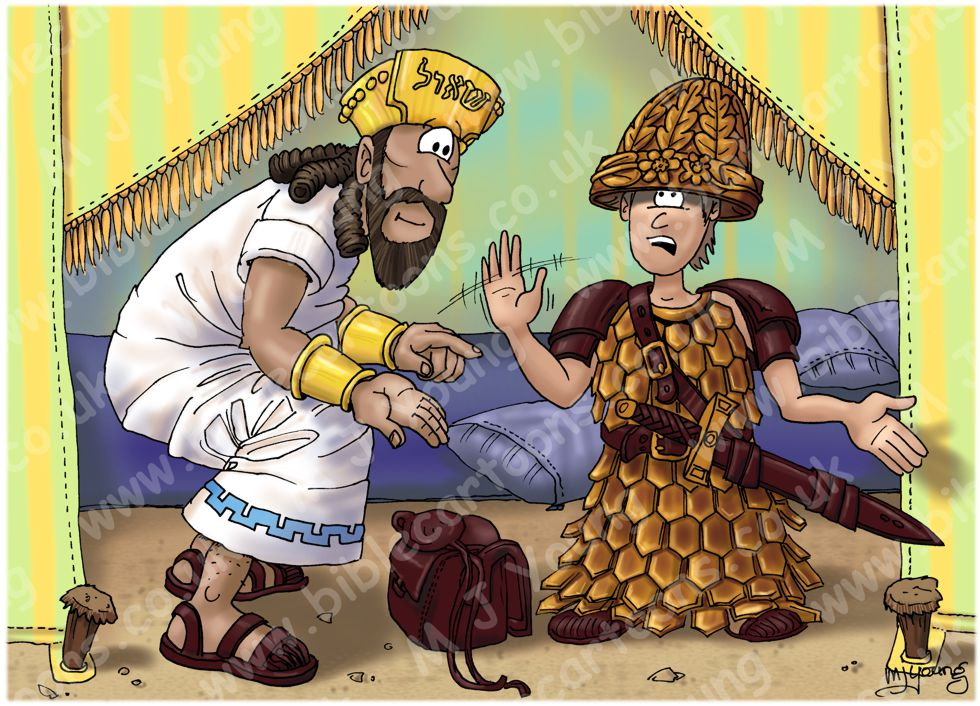 1 Samuel 17 - David and Goliath - Scene 08 - Saul's armour