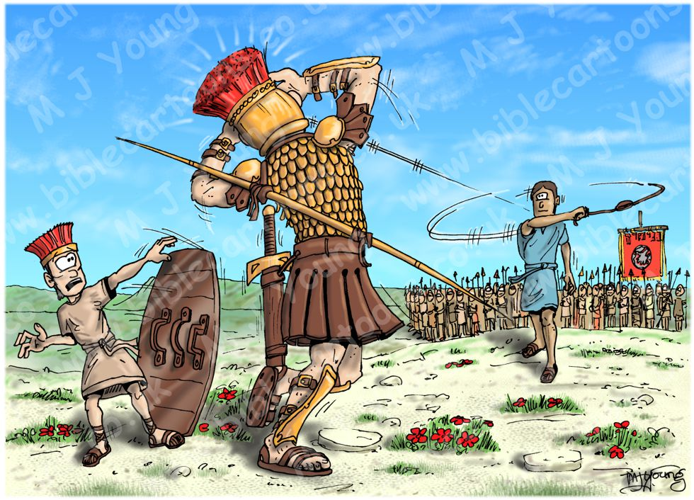 1 Samuel 17 - David and Goliath - Scene 09 - Slingshot