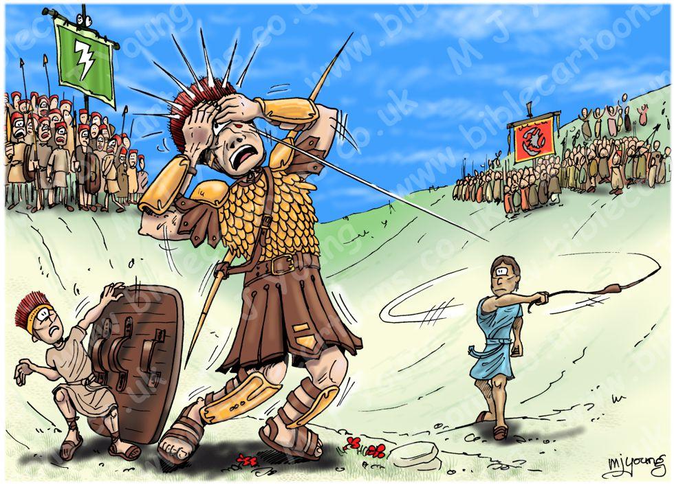 1 Samuel 17 - David and Goliath - Scene 10 - Goliath falls