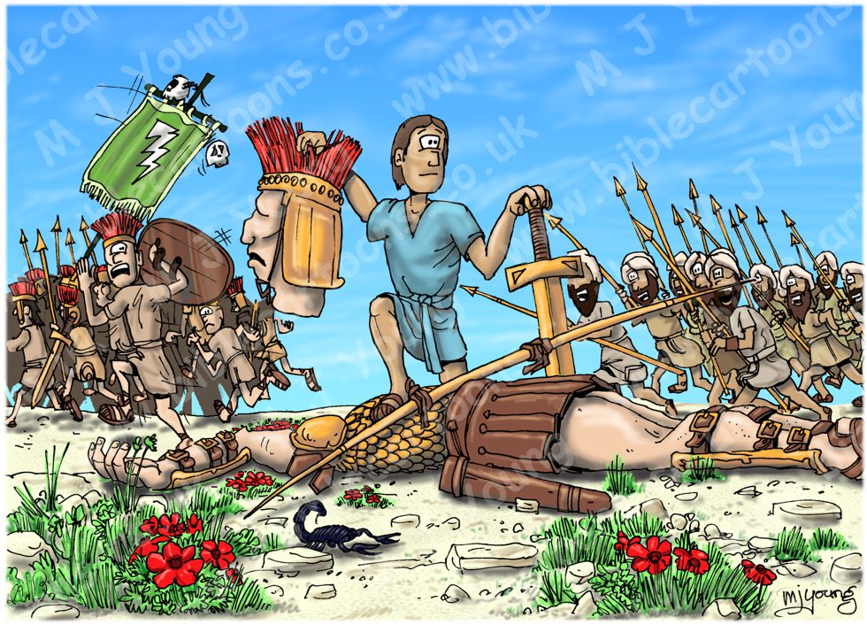 1 Samuel 17 - David and Goliath - Scene 11 - Goliath beheaded