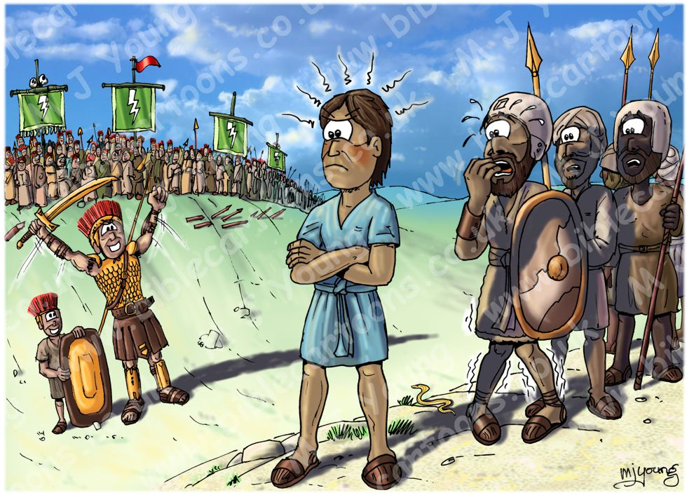 1 Samuel 17 - David and Goliath - Scene 03 - Goliath boasts