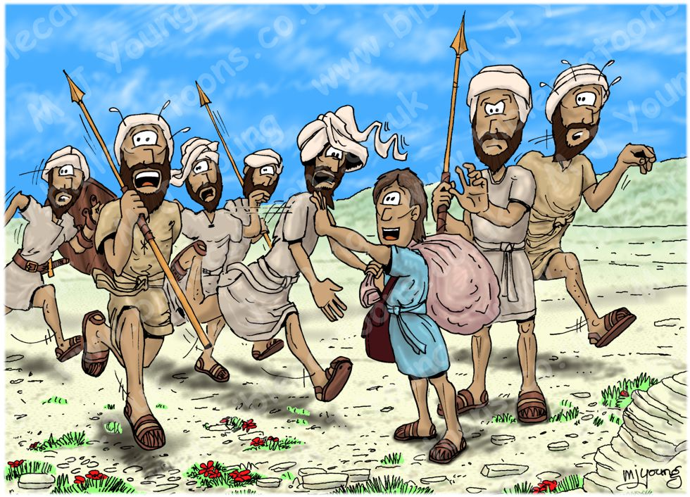 1 Samuel 17 - David and Goliath - Scene 04 - Israelites run